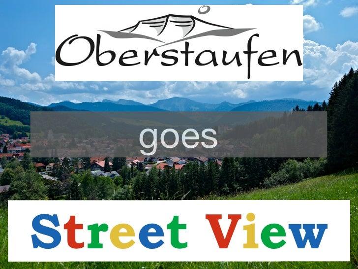 Bilderstory: Oberstaufen goes Street View