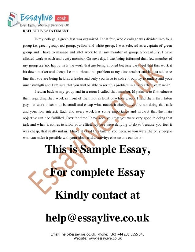 Essays on strengths