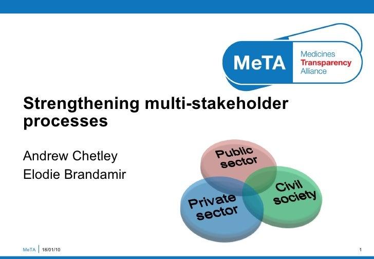 Strengthening multi-stakeholder processes