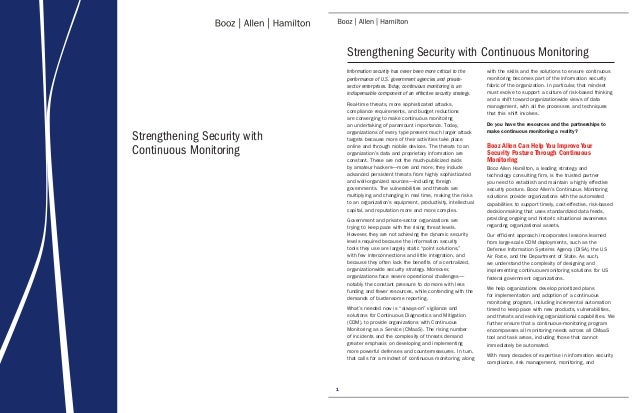Strengthening Security with Continuous Monitoring