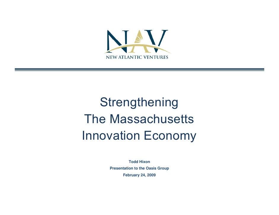 Strengthening The Ma Innovation Economy V1