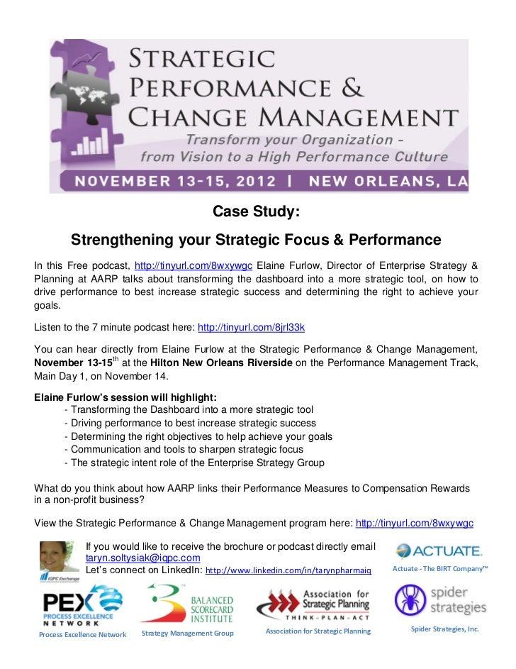 Strengthening Your Strategic Focus & Performance   Aarp