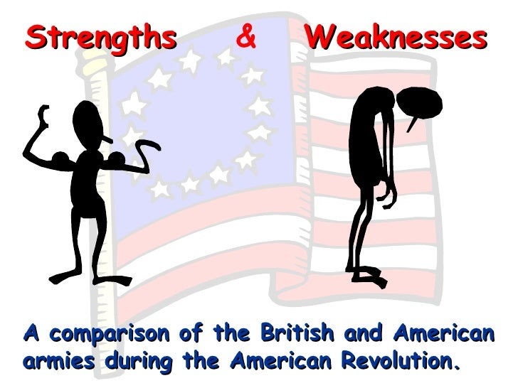 an analysis of the advantages and disadvantages of americans and british in the war of independence Summarize the philosophical and political ideas of the declaration of independence discuss the advantages and disadvantages of the british and continental armies including the idea of egalitarianism and the failure of the war to impact women and african americans chapter 4 quiz on.