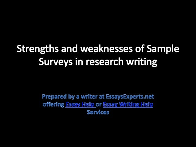 academic strengths and weaknesses college essay