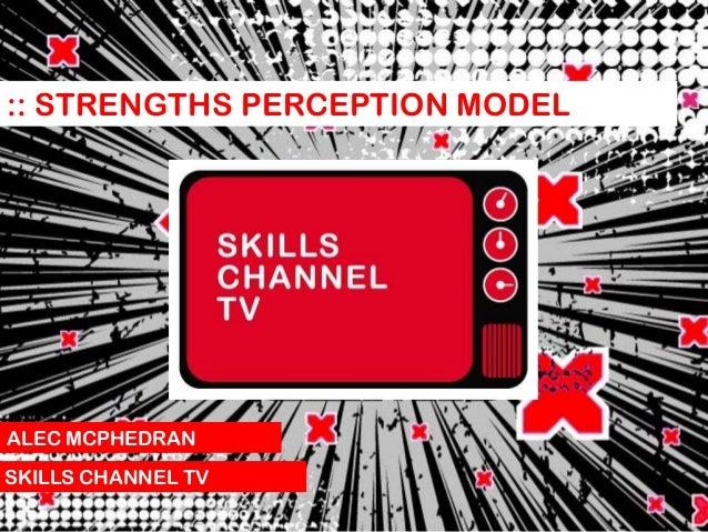 :: STRENGTHS PERCEPTION MODEL  ALEC MCPHEDRAN SKILLS CHANNEL TV