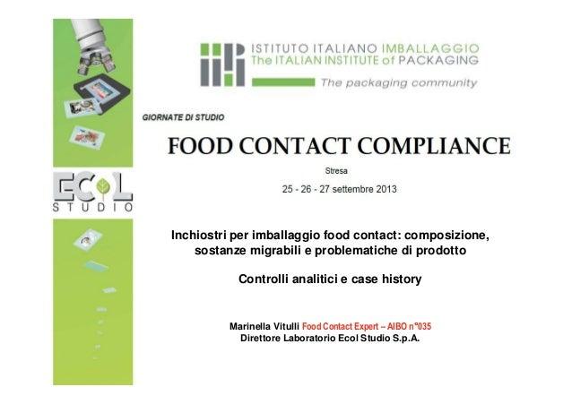 inchiostri food grade per materiali destinati al contatto con gli alimenti