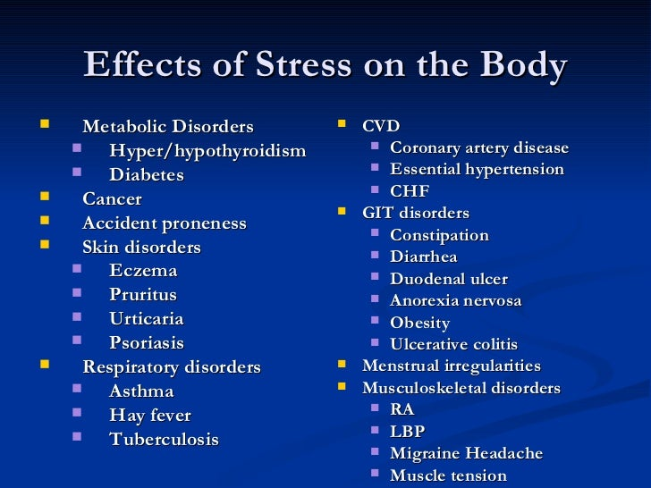 demerits of stress Best answer: are you talking about stress in a strictly biological sense or everyday sense biological stressors activate the sympathetic nervous.