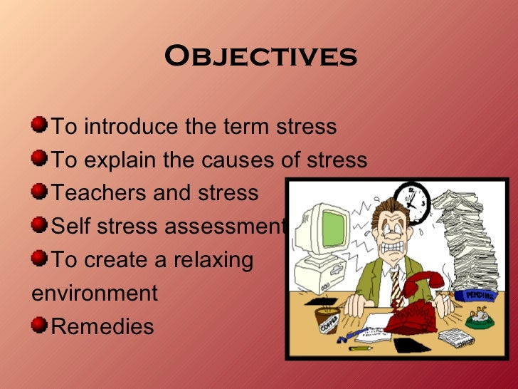 causes of stress among teachers This research study examined the development and management of stress among elementary school teachers the focus of the research was on public school teachers it was necessary to first determine the causes of stress among the district's teachers.