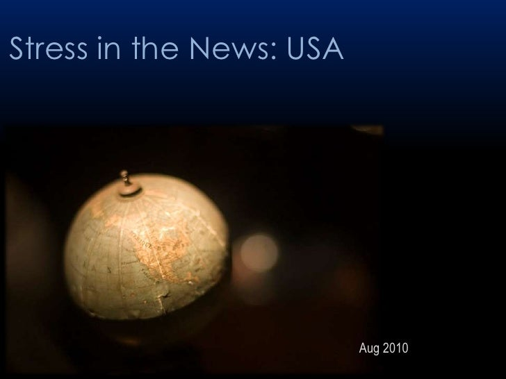 Stress in the news