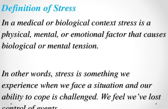 stress management in medical education a review of the literature Of developing stress-management programs for medical a systematic review of stress in medical education: a review of the literature.