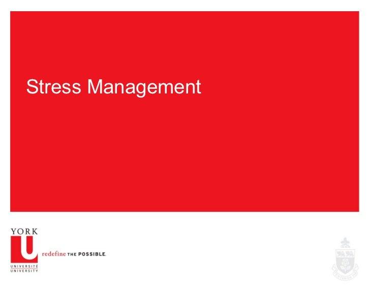 Stress Management Exercise