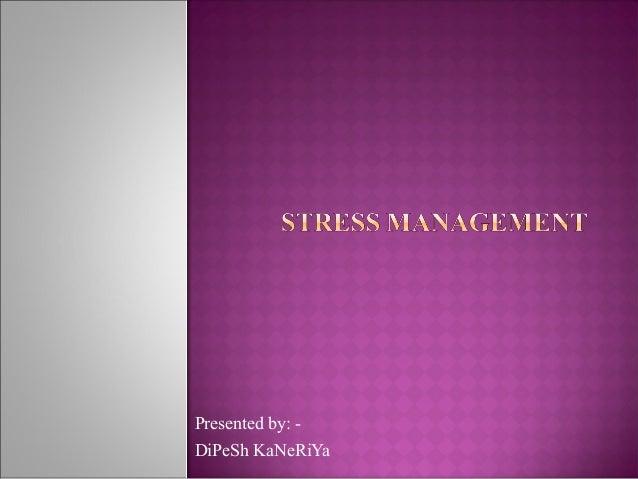 Stressmanagementppt