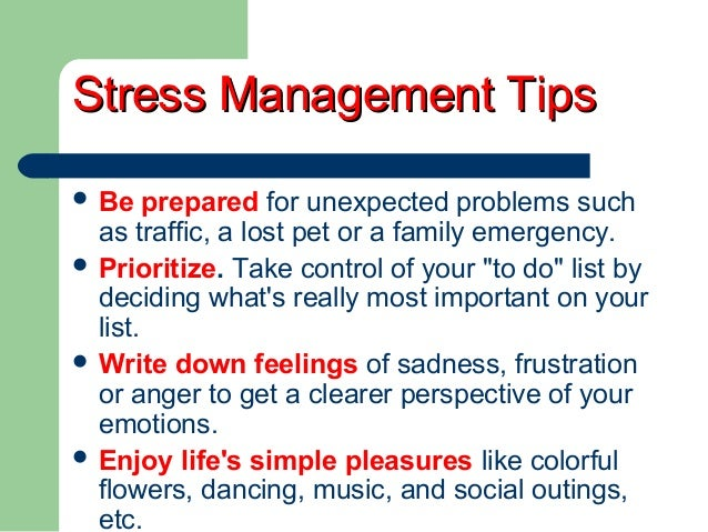 stress management in the workplace research paper