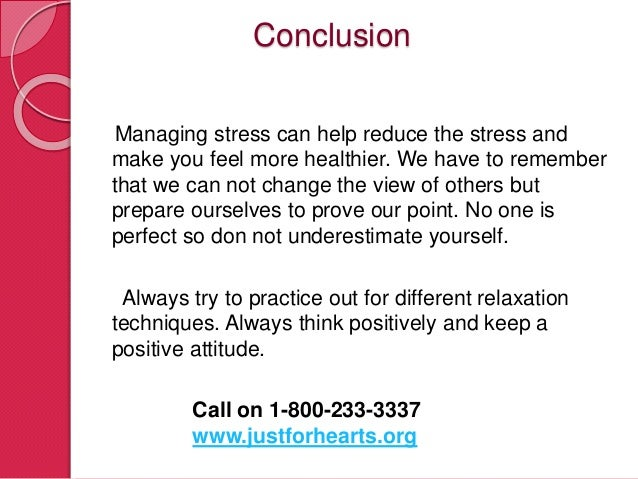 Essay on stress management