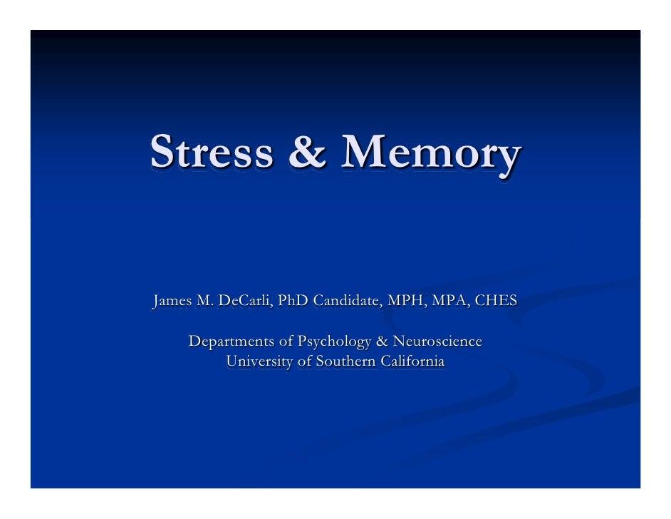 Stress & Memory
