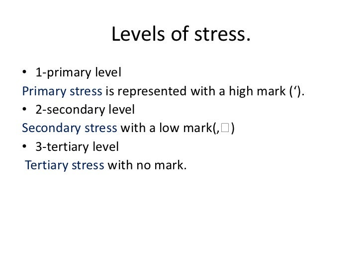 I need an example of money and stress?