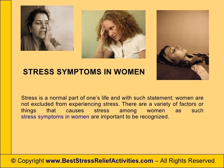 Stress symptoms in women