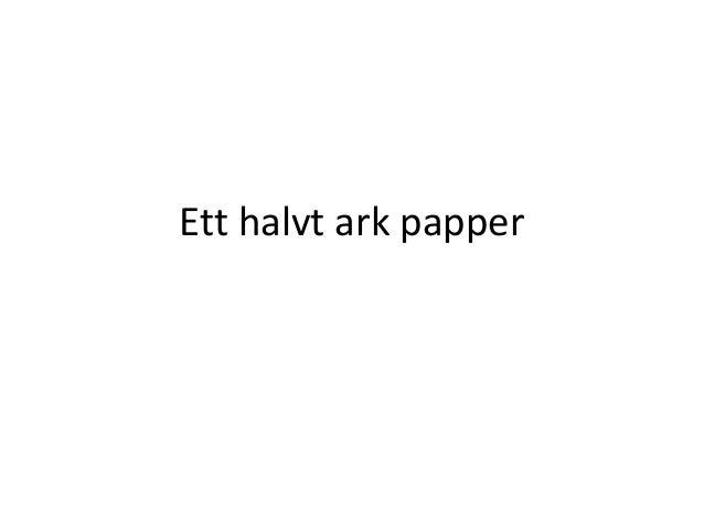 ett halvt ark papper motiv