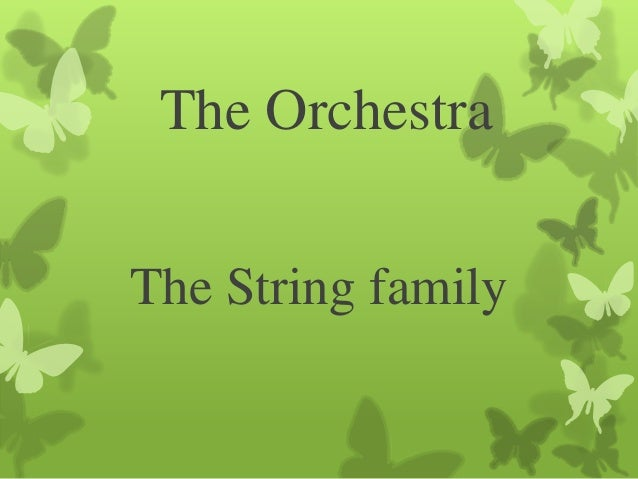 The OrchestraThe String family
