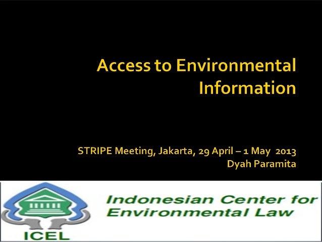 Environmental Law Framework Access to InformationEnvironmental Management &Protection Act (EPMA) No. 32 of2009Establish th...