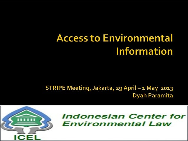 Access to Environmental Information in Indonesia