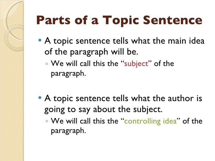 How do you define the topic of an essay