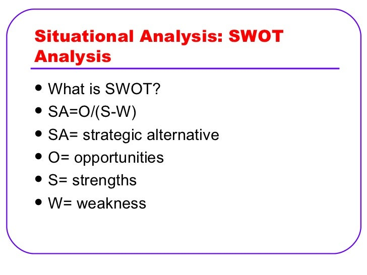 Str Mgt Lesson 5 Str Formulation Situation Analysis & Business Str