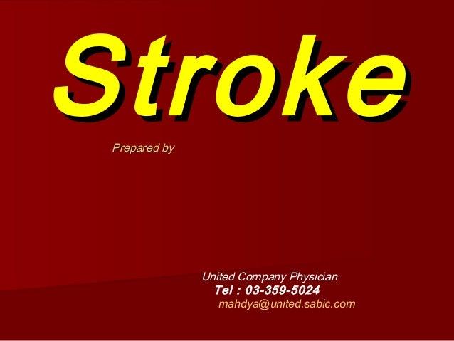Strok / Serangan Angin Ahmar