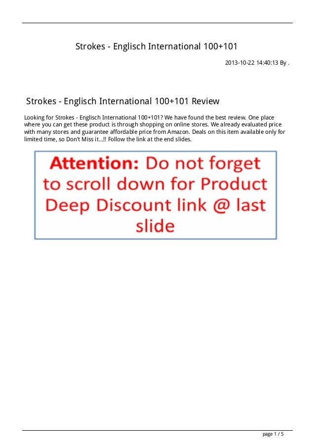 Strokes - Englisch International 100+101 2013-10-22 14:40:13 By .  Strokes - Englisch International 100+101 Review Looking...