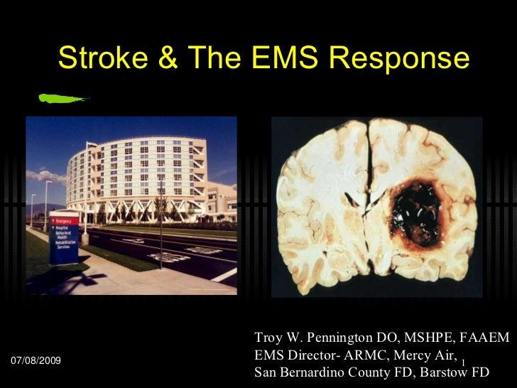 Stroke & the ems response final