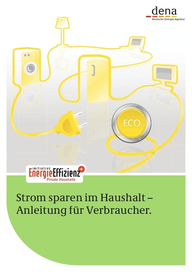 Strom sparen im Haushalt – Anleitung für Verbraucher.