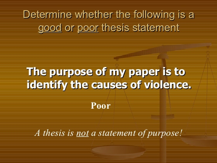 poor thesis statements