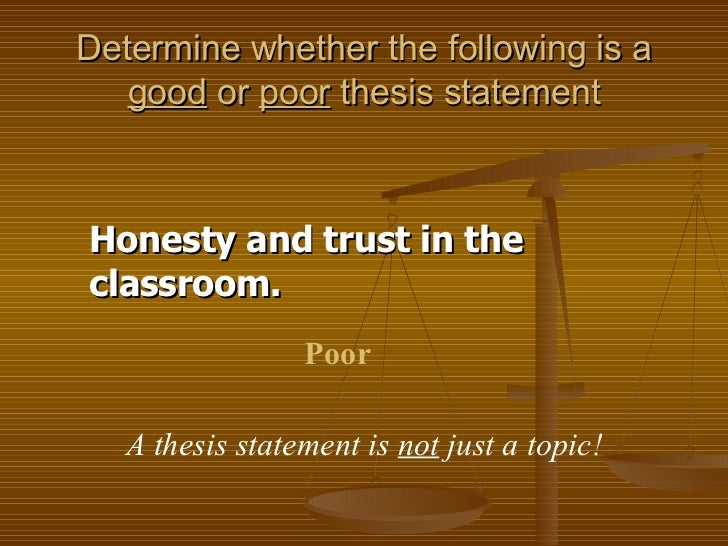 thesis statement on parents and trust Free thesis statement for romeo and juliet the parents in william shakespeare juliet can confide in juliet can trust the nurse as the nurse.