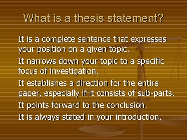 into the world thesis statement Looking for some free examples of thesis statements this article contains compares several good and bad examples, as well as a checklist of traps that writers might fall into while crafting.