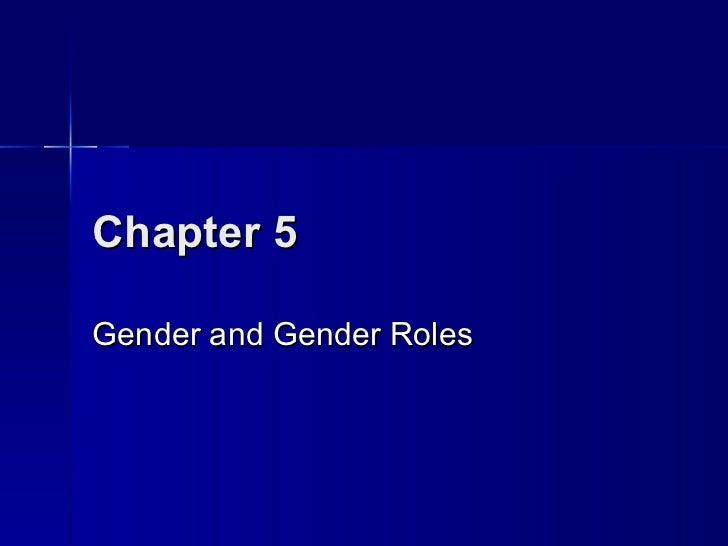 Chapter 5Gender and Gender Roles