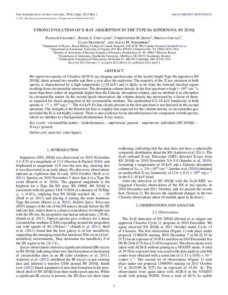 The Astrophysical Journal Letters, 750:L2 (6pp), 2012 May 1                                                               ...