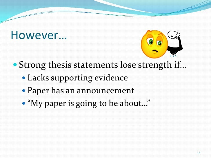 What is a good thesis statement on evolution?