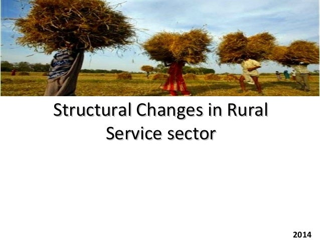 Structural Changes in RuralStructural Changes in Rural Service sectorService sector 2014