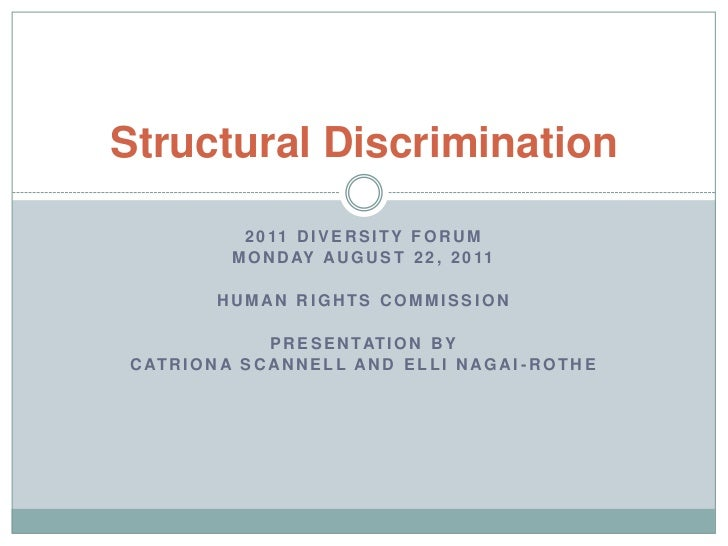 2011 Diversity forum<br />Monday August 22, 2011<br />Human Rights Commission<br />Presentation by <br />Catriona Scannell...