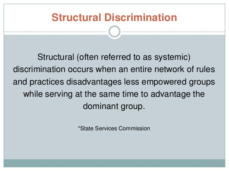 What is systemic discrimination?