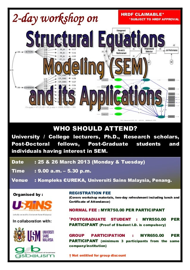 Structural Equations Modelling (SEM) and Its Application March 2013