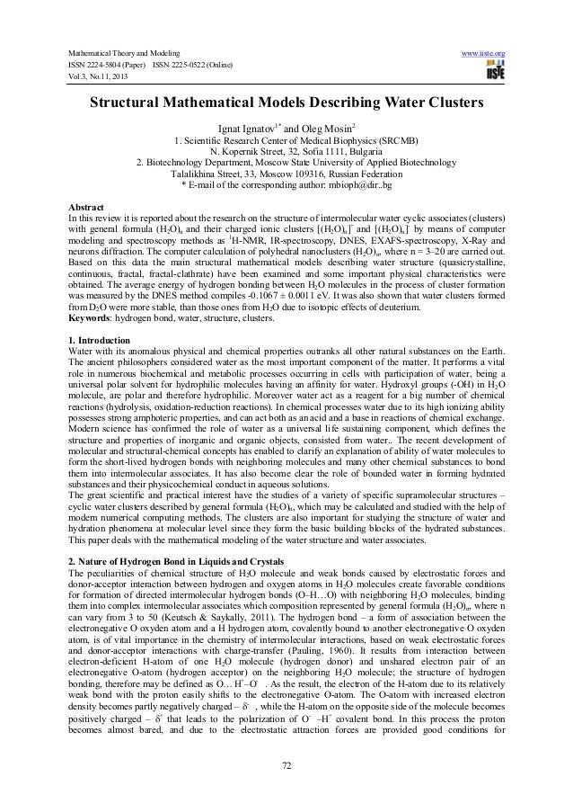 Mathematical Theory and Modeling ISSN 2224-5804 (Paper) ISSN 2225-0522 (Online) Vol.3, No.11, 2013  www.iiste.org  Structu...