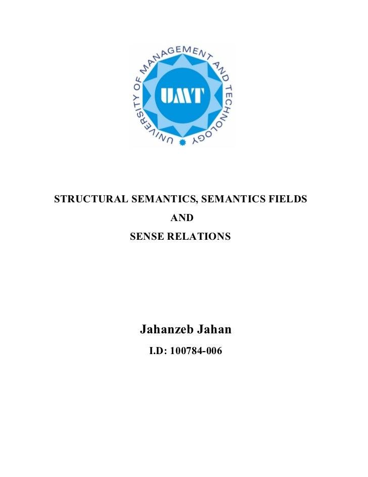 Structural semantics2