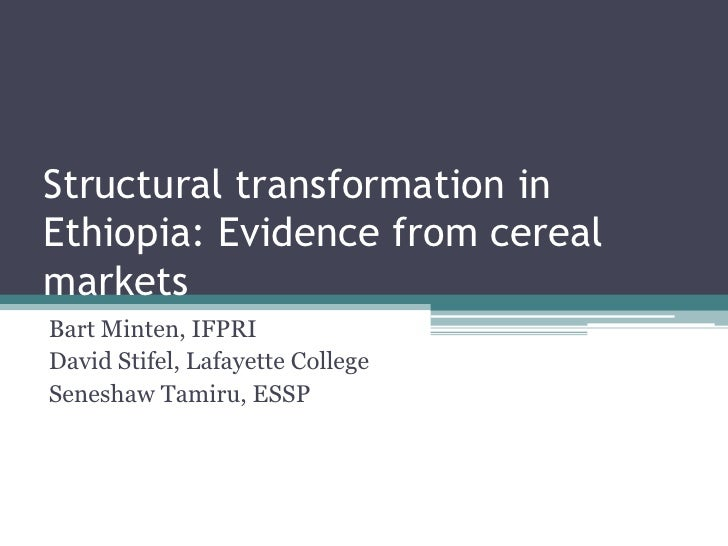 Structural Transformation in Ethiopia