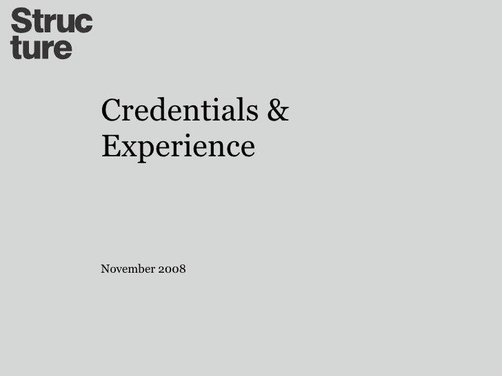 Structure credentials