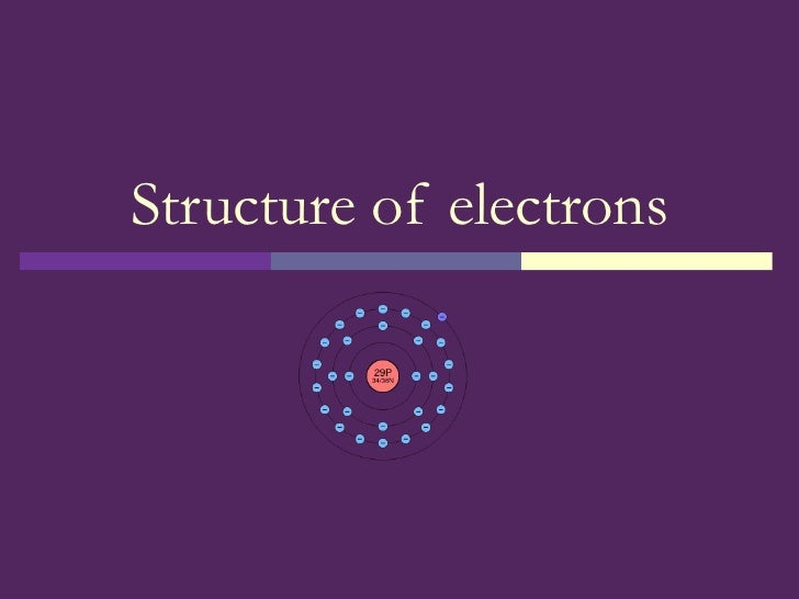 Structure of electrons