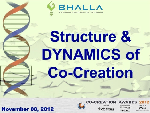 Presentation by Gaurav Bhalla at Co-Creation Awards 2012