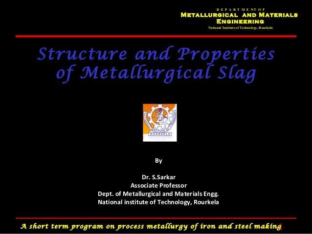 D E P A R T M E NT O F                                               Metallurgical and Materials                          ...
