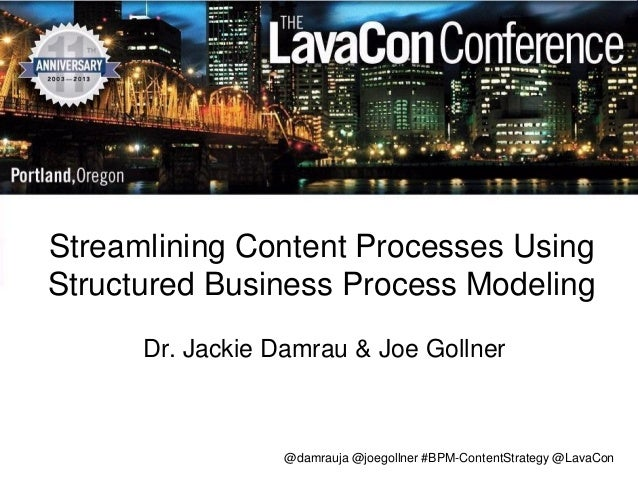 @damrauja @joegollner #BPM-ContentStrategy @LavaCon Streamlining Content Processes Using Structured Business Process Model...