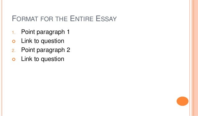 How to format an essay for this question?